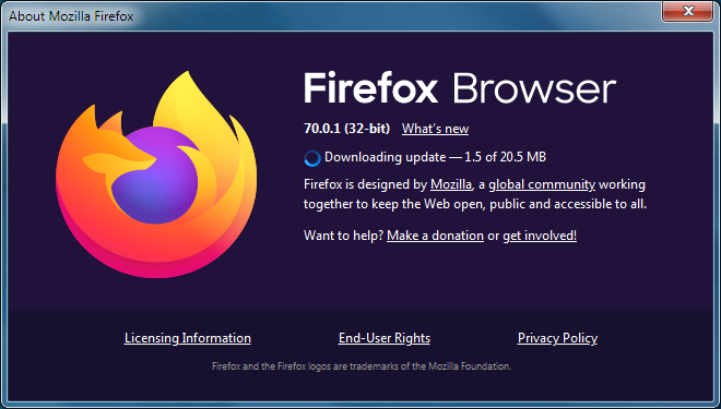 About Firefox Browser