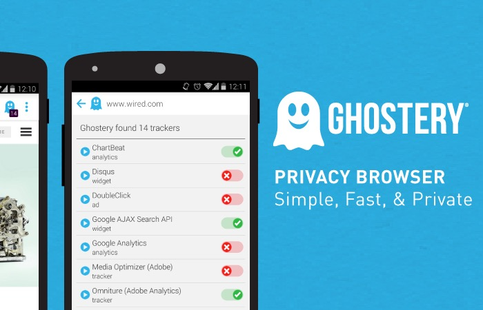 Ghostery Privacy Browser trackers logo