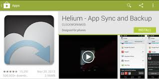 Helium App Sync and Backup available on playstore